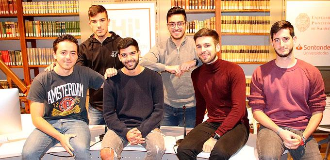 Estudiantes Univesidad Pontificia en NASA Space Apps Challenge (Foto: Salamanca 24 horas)